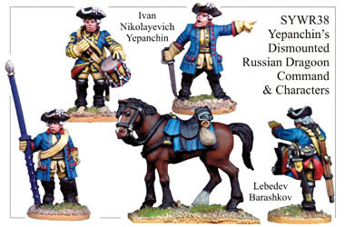 SYWR038 Yepanchin's Dismounted Russian Dragoon Command and Characters