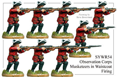 SYWR054 Russian Observation Corps Musketeers in Waistcoats Firing