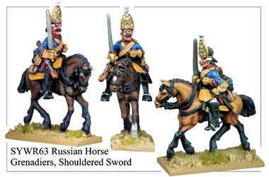 SYWR063 Russian Horse Grenadiers with Shouldered Sword