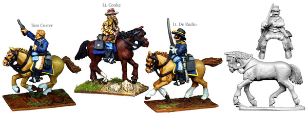 US002B - US Cavalry Mounted Little Bighorn Personalities