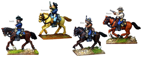 US003B - US Cavalry Mounted Troopers