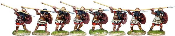WG011 - Armoured Spartan Hoplites Attacking