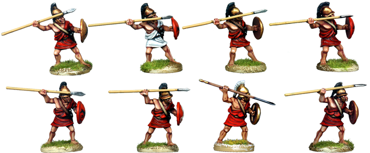 WG016 - Greek or Macedonian Peltasts Attacking