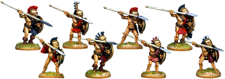 WG045 - Naked Athenian Hoplites Attacking