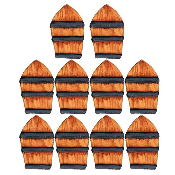 WP040 - African Arched Top Wooden Congo Shields