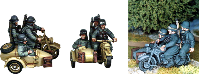 WW2G010 - Motorcycle Combination and Crew