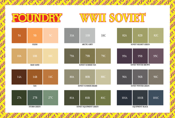 World War II Soviet Paint Set
