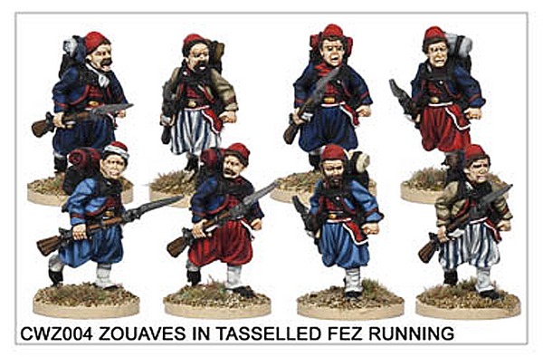 CWZ004 Zouaves in Tasseled Fez Running