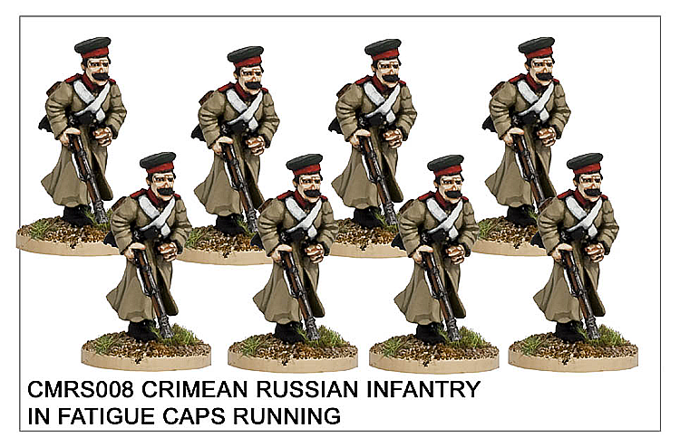 CMRS008 Infantry in Fatigue Caps Running
