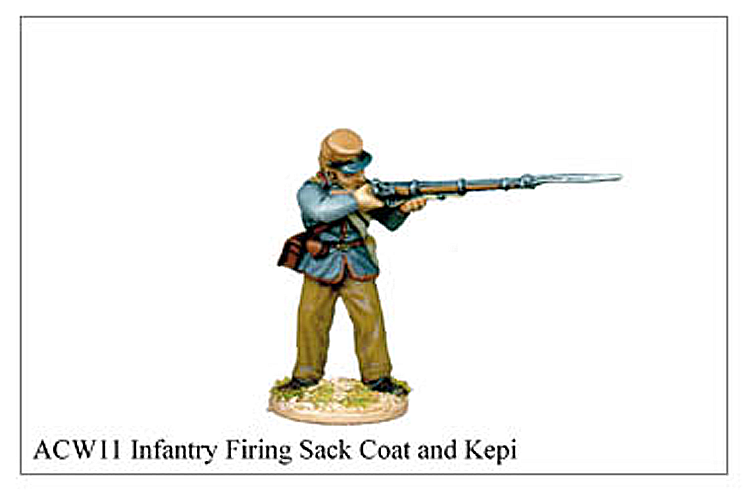 ACW011 - Infantry Firing Sack Coat And Kepi