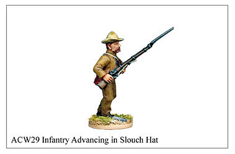 ACW029 - Infantry Advancing In Slouch Hat