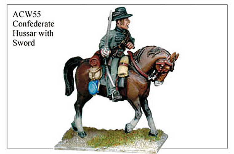 ACW055 - Confederate Hussar With Sword