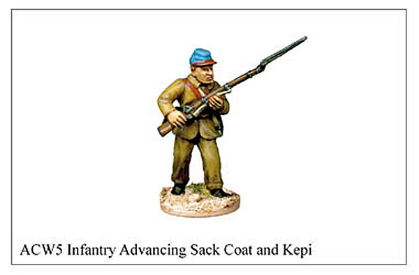 ACW005 - Infantry Advancing Sack Coat And Kepi