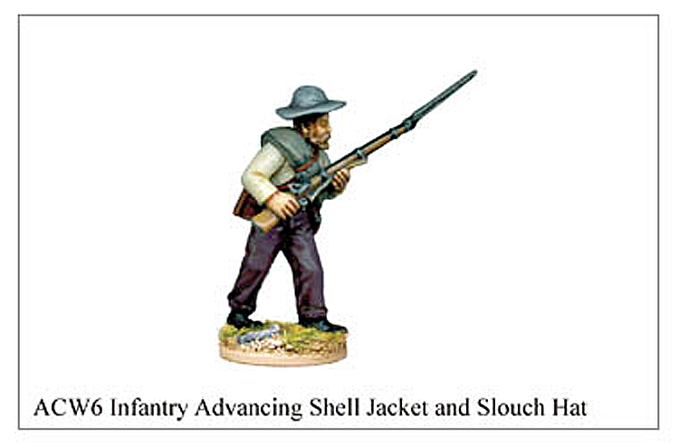 ACW006 - Infantry Advancing Shell Jacket And Slouch Hat