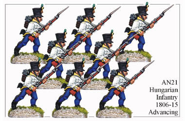 AN021 Hungarian Infantry 1806-15 Advancing