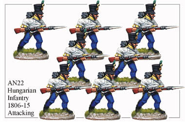 AN022 Hungarian Infantry 1806-15 Attacking