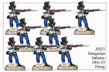 AN023 Hungarian Infantry 1806-15 Firing