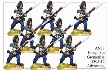 AN033 Hungarian Grenadiers 1805-15 Advancing