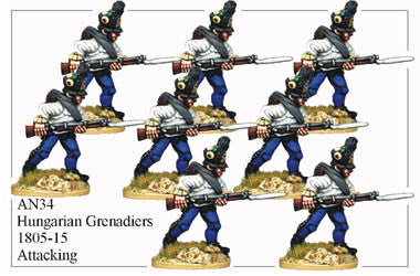 AN034 Hungarian Grenadiers 1805-15 Attacking