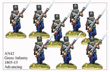 AN042 Grenz Infantry 1805-15 Advancing