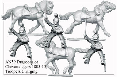 AN059 Dragoons or Chevauxlegers 1805-15 Troopers Charging