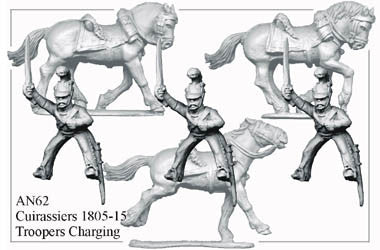 AN062 Cuirassiers 1805-15 Troopers Charging