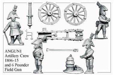 AN078 Artillery Crew 1806-15 and 6pdr Field Gun
