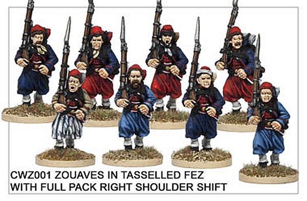 CWZ001 Zouaves in Tasseled Fez Running