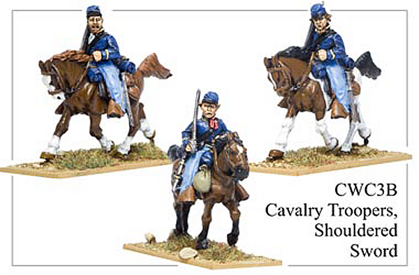 CWC003B Cavalry Troopers, Shouldered Sword