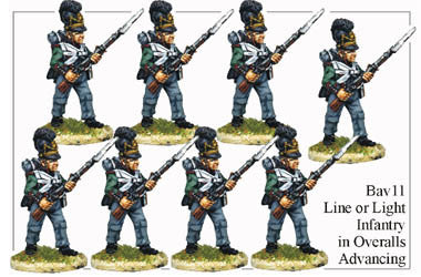 BAV011 Line or Light Infantry in Overalls Advancing