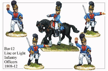 BAV012 Line or Light Infantry Officers 1808-12