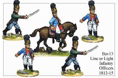 BAV013 Line or Light Infantry Officers 1812-15