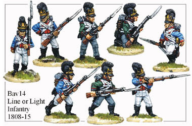 BAV014 Line or Light Infantry 1808-15