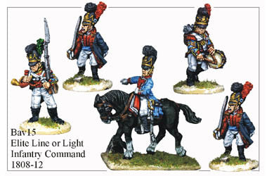 BAV015 Elite Line or Light Infantry Command 1808-12