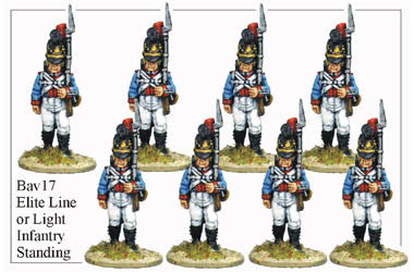 BAV017 Elite Line or Light Infantry Standing