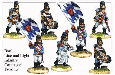 BAV001 Line or Light Infantry Command 1808-15