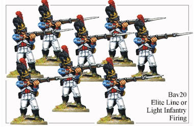 BAV020 Elite Line or Light Infantry Firing