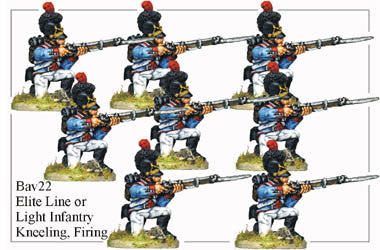 BAV022 Elite Line or Light Infantry Kneeling and Firing