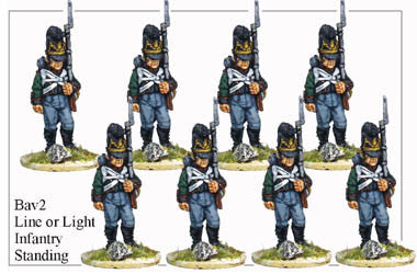 BAV002 Line or Light Infantry Standing