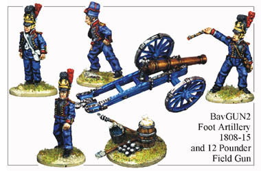 BAV034 Foot Artillery 1808-15 and 12pdr Field Gun