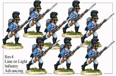 BAV004 Line or Light Infantry Advancing
