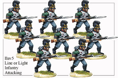 BAV005 Line or Light Infantry Attacking