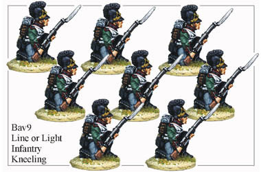 BAV009 Line or Light Infantry Kneeling