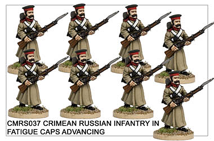 CMRS037 Infantry in Fatigue Caps Advancing