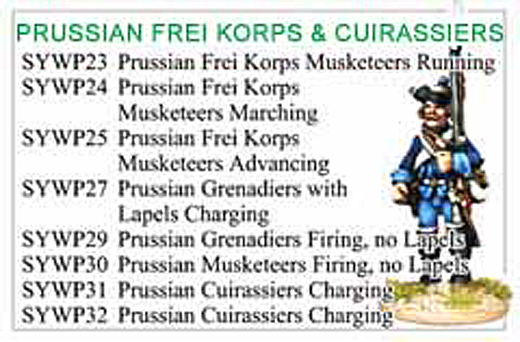 BCSYW006 - Seven Years War Frei Korps And Cuirassier Collection