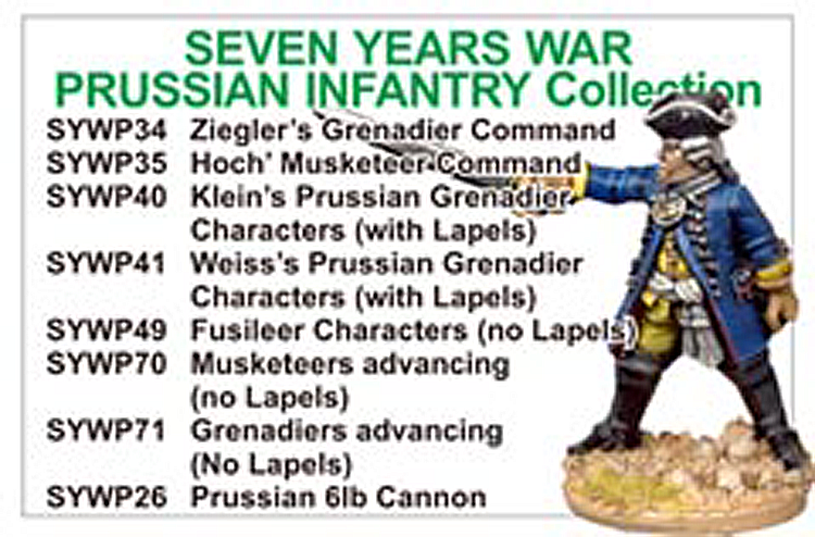 BCSYW013 - Seven Years War Prussian Infantry Collection