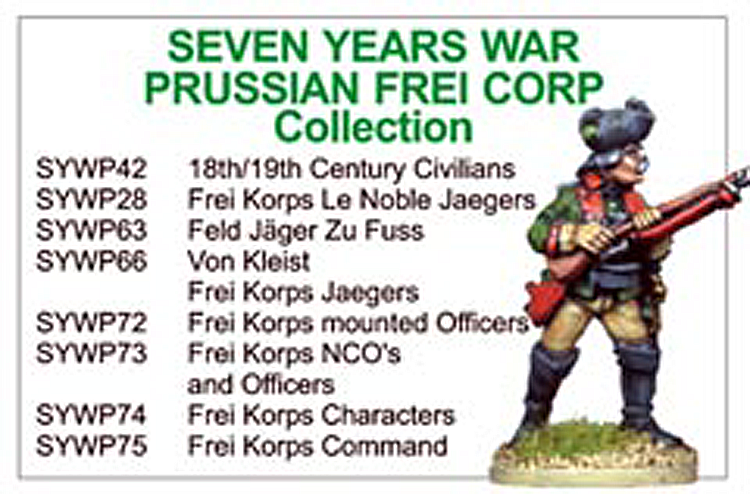 BCSYW015 - Seven Years War Prussian Frei Korps Collection