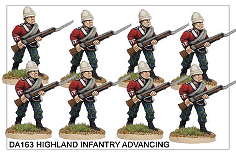 DA163 Highland Infantry Advancing