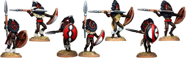 DA112 - Masai Warriors with Feathered Headdress Two