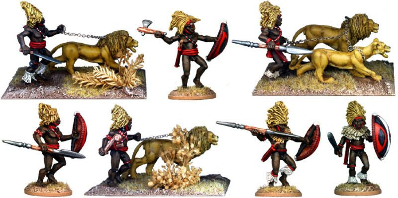 DA116 - Masai Warriors with Lions Mane Headdress